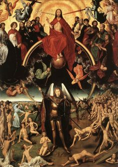 """Hans Memling: """"The Last Judgment"""", central detail of the triptych (1467-71)"""