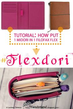 FLEXdori: how put a midori inside a filofax flex - Traveler's Notebook - Planner Organization