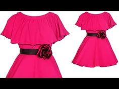 Designer Baby Cape Dress For 4 Year baby Girl Full Tutorial Kids Party Wear Dresses, Kids Dress Wear, Baby Girl Party Dresses, Kids Gown, Baby Frock Pattern, Frock Patterns, Baby Girl Dress Patterns, Sewing Patterns, Long Frocks For Kids