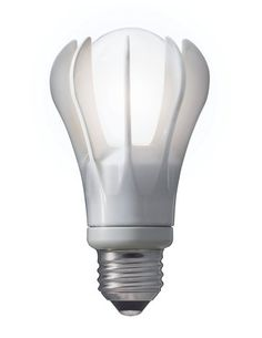 """energy smart LED bulb by GE for $50. the bulb is 9 watts, energy-efficient, and produces the same amount of light as a 40 watt incandescent bulb with 77 percent less power. """"Its 22,500-hour life span is twice that of a compact fluorescent bulb, and it contains no mercury. GE claims that one bulb will last 22.8 years...and that if every American household bought just one, we'd save almost $400 million in energy costs and prevent five billion pounds of greenhouse gas emissions in one year."""""""