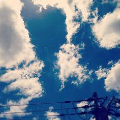 昨日も夏空!#sky #cloud #空 - @comfy- #webstagram