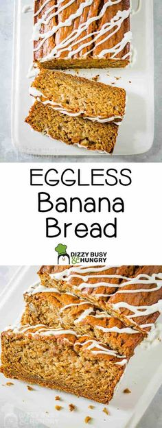 How to bake moist banana bread without eggs #dizzybusyandhungry #banana #bread #bananabread #desserts #homemade #baking