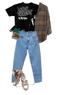 """STRAIGHT EGDE"" by kampow ❤ liked on Polyvore featuring Xirena, Pull&Bear, Converse, indie, Punk, grunge, art and aesthetic"