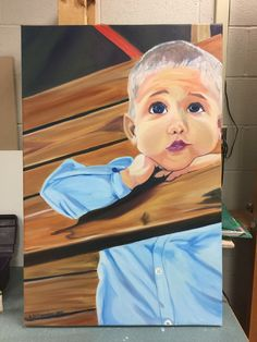 #oilpainting #portrait of my son at 18 months! 2x3'
