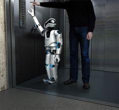 Humanoid Robot Myon, ontworpen door firma Frackenpohl Poulheim; Keulen; Duitsland; in opdracht van de Humboldt State University in de U.S.A. Hij wordt geproduceerd met het doel te kunnen leren van mensen.