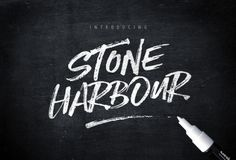 chrisbmarquez:  Stone Harbour Brush Font  Extrasby Nicky...