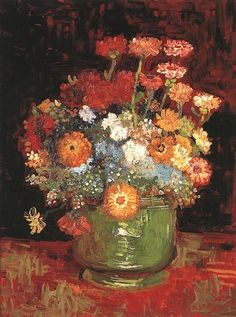 Zinnias, Paris, Summer 1886