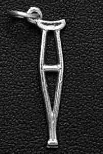 nurse doctor crutch hospital charm silver 925 medical Real Sterling silver 925 pendant Charm jewelry  find this item at https://www.etsy.com/shop/princeofdiamonds