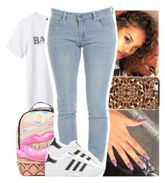 """""""First I drop my top ayye."""" by theyknowtyy ❤ liked on Polyvore featuring Sprayground, Felony Case and adidas Originals"""
