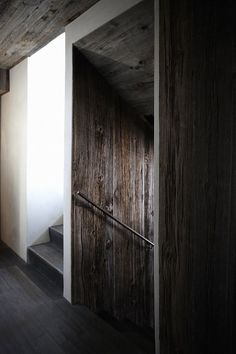 Dark timber floors
