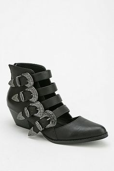Interesting. Ecote Western Buckle Ankle Boot