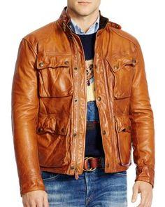 Polo Ralph Lauren Southbury Leather Bike Jacket  6b9f61ec94a47