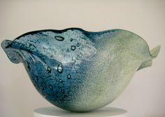 """Sea Foam"" large shell bowl."