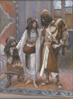 The Harlot of Jericho and the Two Spies - James Tissot