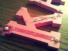 Diy decorated wood letters
