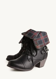 Want Scale: 4    Adelaide Plaid Boots    Ruche