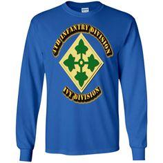 4TH INFANTRY DIVISION IVY DIVISION G240 Gildan LS Ultra Cotton T-Shirt