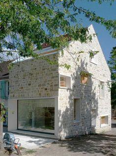 Annuaire architectes Avivre - projet : EXTENSION DE MAISON EN PIERRE - atelier 32 architectes