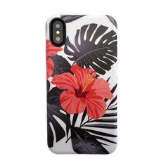 Floral Case for iPhone X - Phantom Hibiscus