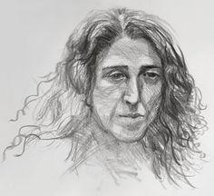 Martine in graphite by David Gamblin