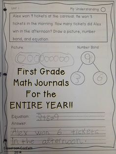 First Grade Math Journal through the Year! Includes differentiation and scaffolds for every learner. Includes addition & subtractions, geometry, place value, measurement, and much more.