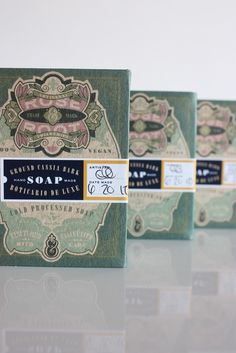 Rose & Root soap packaging