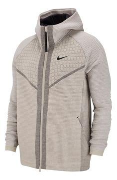 Tech Pack Zip Hoodie | #ZipHoodie | #Hoodie | Hoodie Dress, Zip Hoodie, Nike Tech Hoodie, Tech Pack, Nordstrom Gifts, Sporty Look, Nike Men, Hooded Jacket, Men Sweater