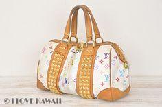Louis Vuitton White Monogram Multicolor Courtney MM Hand Bag M45641