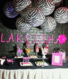 Zebra & Hot Pink Birthday Party Ideas | Photo 18 of 24 | Catch My Party