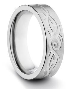 6MM Titanium Ladies/Mens/Unisex Comfort Fit Wedding Band Ring w/ Brushed Finish & Laser Engraved Tribal Design (Available Sizes 4-11 Including Half Sizes) TWG Titanium. $29.95. Comfort Fit Design. Aerospace Grade Titanium. Hypo-Allergenic. 60 Day Money Back Guarantee. Lightweight & Durable
