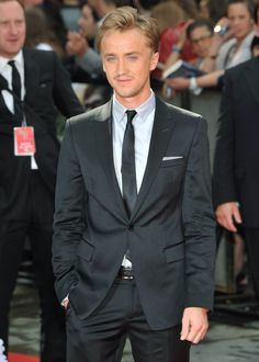Tom Felton at the Harry Potter and the Deathly Hallows Part 2......*el sigh* he's sooo f-ing cute!