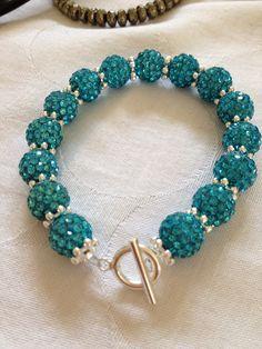 Sophisticated Shamballa style bracelet www.myexquisitethings.co.uk