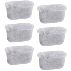Everyday Dccf-6 6 Replacement Charcoal Water Filters for Cuisinart Coffee Machines, White