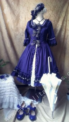 Rococo Cage Maria Queen Short Sleeves OP Lolita Dress