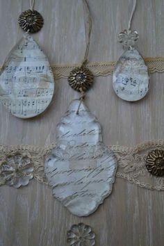 Pampille e gocce di cristallo decorate Elicreashabby http://elicreashabby.blogspot.it/2017/02/love-vintage.html
