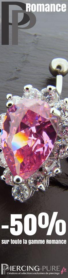 """-50% sur la gamme """"Romance"""" https://piercing-pure.fr/petits-prix #piercings #piercingnombril #promo #piercingoreille #bijou"""
