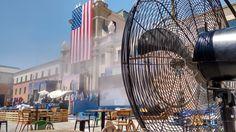 Climatización del acto celebración del Día de la Independencia Americana #climatizaciónevento #nebulización #alquilernebulización