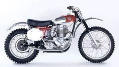 BSA Birmingham Small Arms Ltd starteout in building bicycles 1947 motocross started in the Netherlands. BSA was winning till the 70 s (this a thanks Vintage motocross Bsa Motorcycle, Motocross Bikes, Moto Bike, Motorcycle Images, Motorcycle Style, Enduro Vintage, Vintage Motocross, Vintage Bikes, British Motorcycles