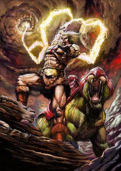 He-Man - Battle cat by leg87