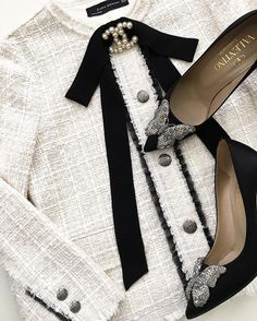 Black and White Chanel and Valentino