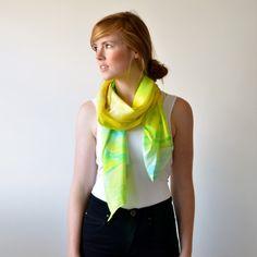 Digitally Printed Silk Scarf - Sunny Side. $95.00, via Etsy.