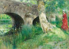 "CARL LARSSON 1853-1919, ""Bron i Grez / Medeltid"""
