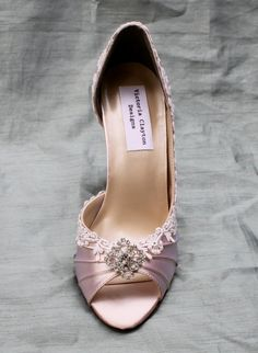 Wedding Shoes Low Heel Lace Wedding shoes The by TheCrystalSlipper