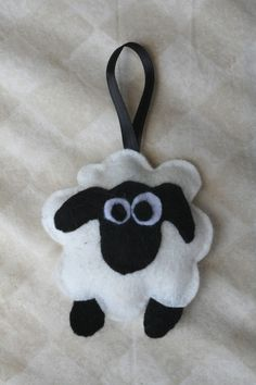 SO CUTE!!!  Larry the Sheep Felt Ornament by thelopsidedfrog on Etsy, $8.00