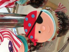 Pirate themed cupcakes