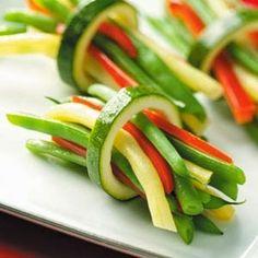 Manera original de comer verduras ¿verdad?