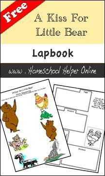 Free Literature Lapbook - A Kiss for Little Bear - Homeschool Helper