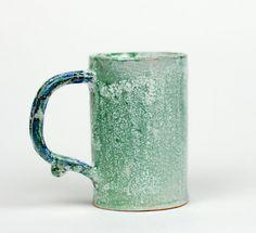 Handmade ceramic mug, green mug, pinch pot, coffee mug, tea mug, ceramic, Stoneware mug, pottery mug, ceramic mug, ceramics and pottery by PotterAsh on Etsy