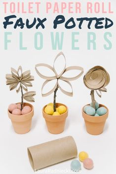 After making diy paper flowers, what do you do with them? You can use them for gift wrap embellishment, art work, or turn them into faux potted flowers! Crafts To Make And Sell, Easy Crafts For Kids, Easy Diy Crafts, Diy Craft Projects, Craft Tutorials, Craft Ideas, Toilet Paper Roll Crafts, Diy Paper, Paper Crafts
