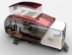 """Interior ampliado de la caravana conceptual de Bob Villa """"This Old Airstream"""""""